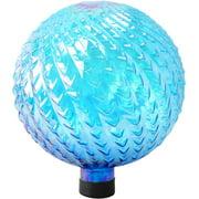 """10"""" Glass Gazing Globe, Blue with Arrow Texture"""