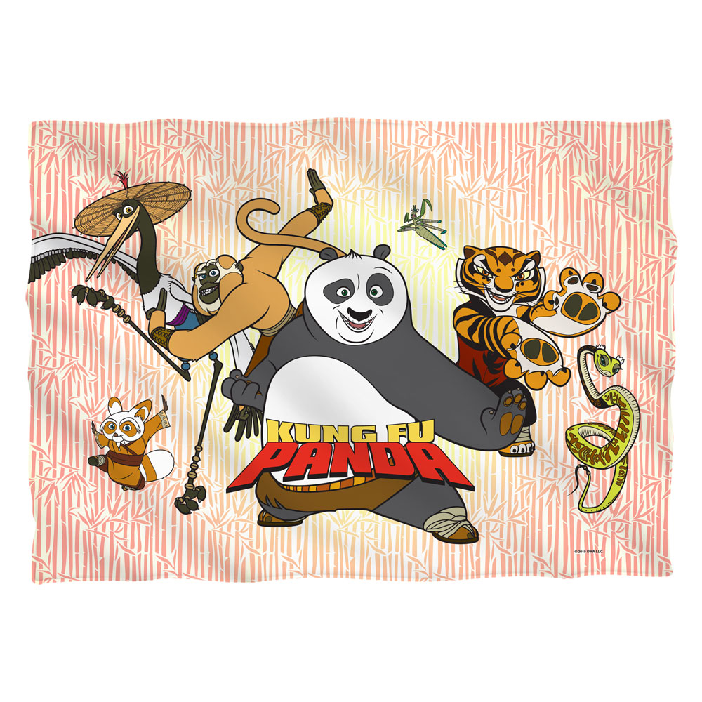Kung Fu Panda Kung Fu Group (Front Back Print) Poly 20X28 Pillow Case White One Size