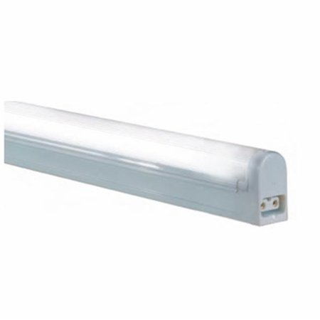 Jesco Lighting SP4-8-W 2 Wire Non-Grounded T4 Sleek Plus - Fluorescent Undercabinet Fixture, White Direct Wire Fluorescent Under Cabinet