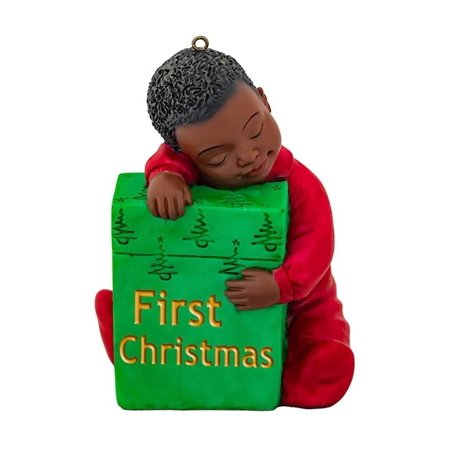 FIRST CHRISTMAS African American Boy Christmas Ornament, by United Treasures
