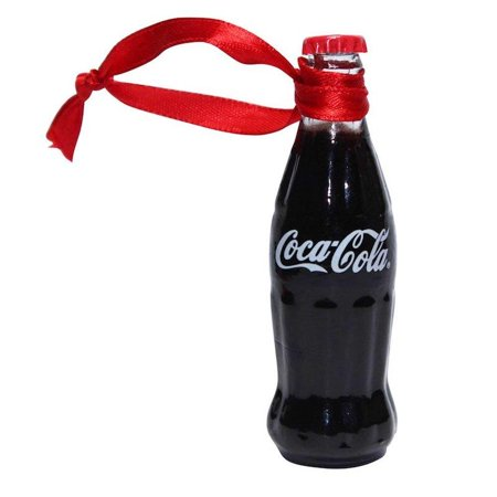 Authentic Coca Cola Coke Mini Bottle Painted Christmas Ornament New with