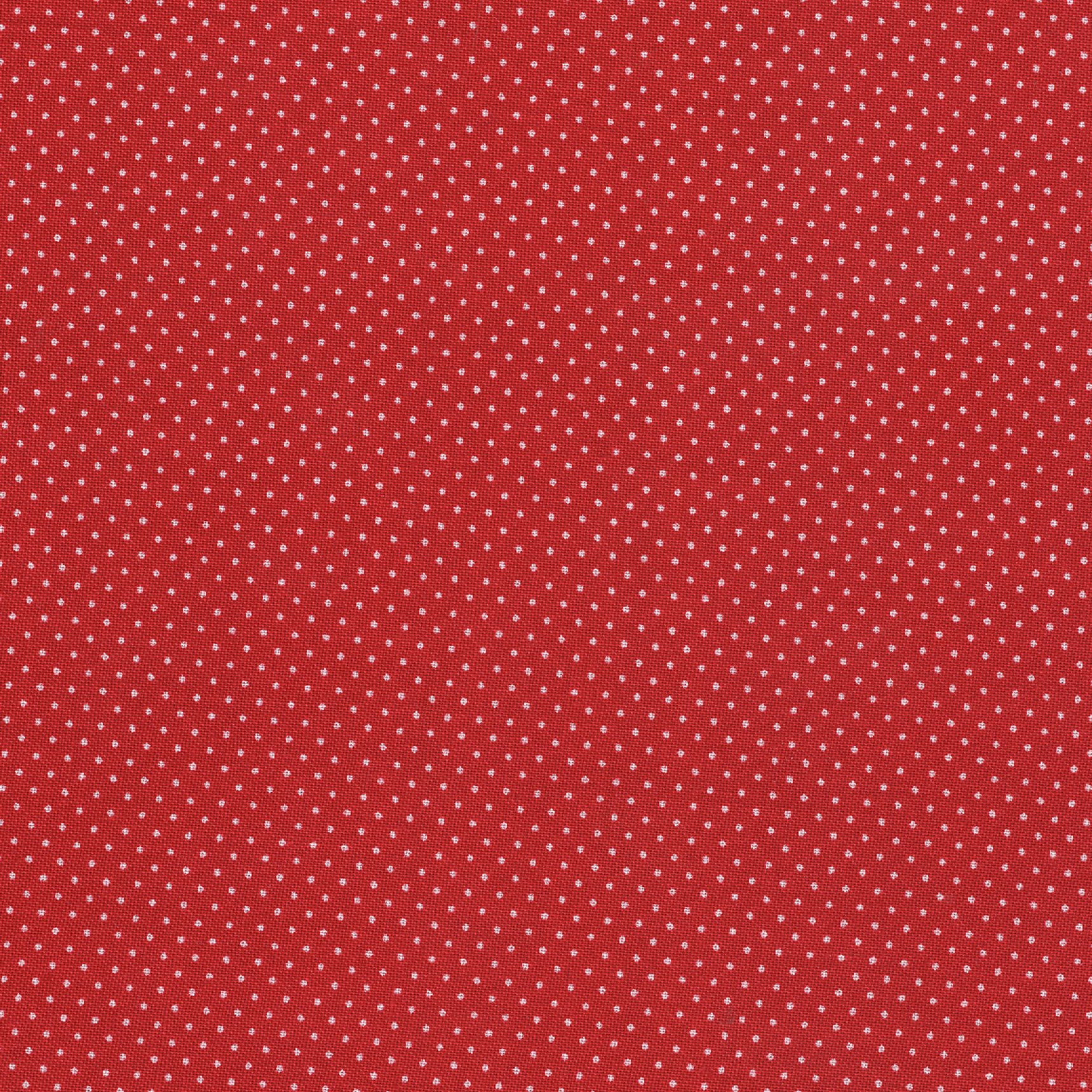 SHASON TEXTILE (3 Yards cut) 100% COTTON PRINT QUILTING FABRIC, RED / WHITE PINDOTS
