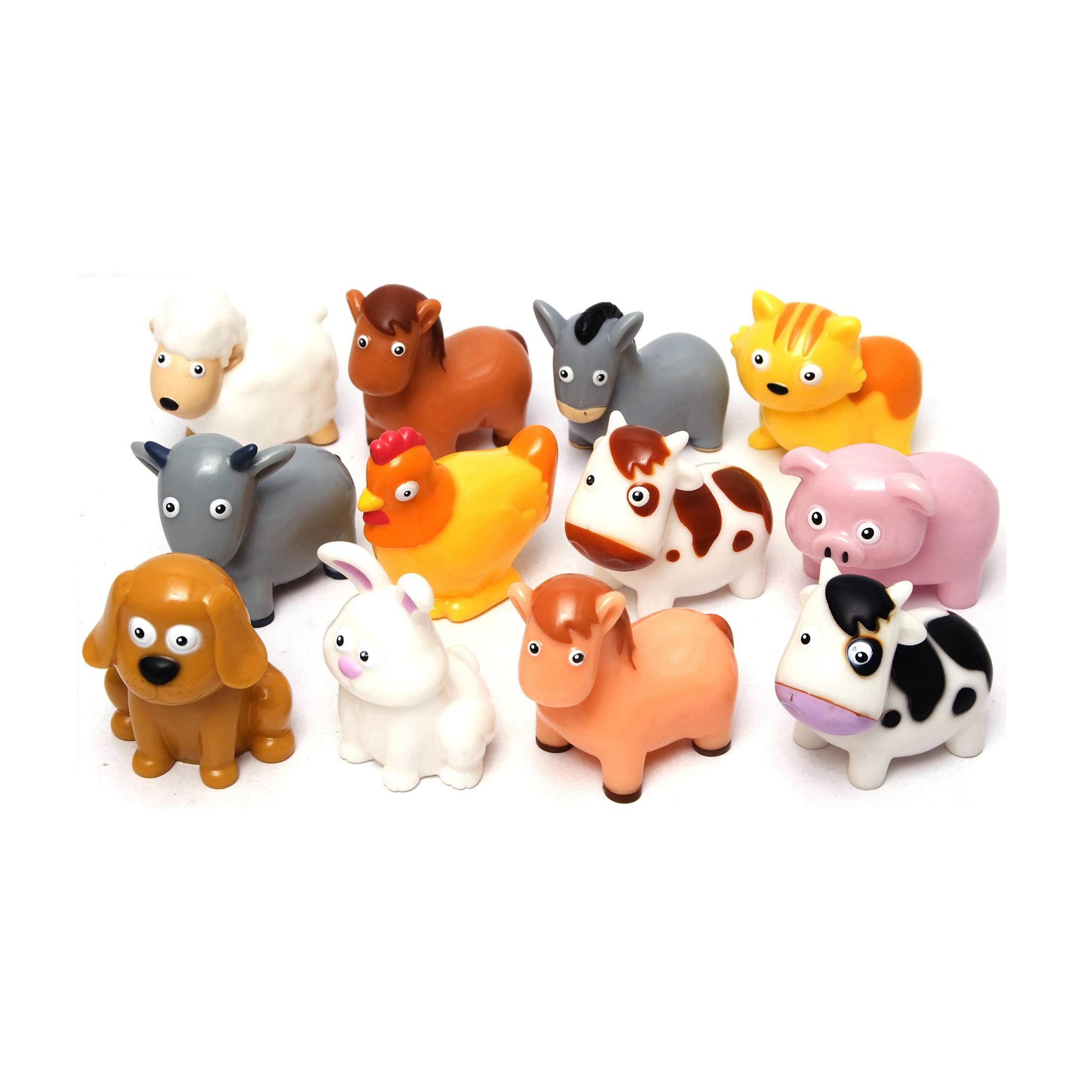BOLEY 12 Piece Bucket of Farm Animal Figures by Boley