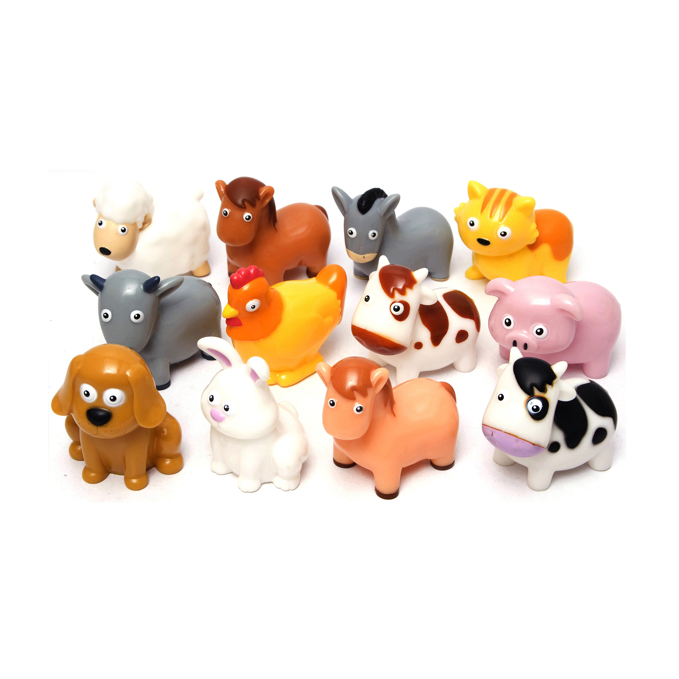 Small Bucket Allows for Easy Storage and Quick cleanup of Your Childs Pretend Play Toys! 40 Piece Farm Animal Toy playset with Animals and Accessories Boley Small Bucket Farm Animal Toys