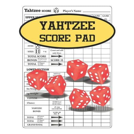 Yahtzee Score Pad: 120 Yahtzee Game Record Score Sheets Size 8.5x11 Inch (Paperback)