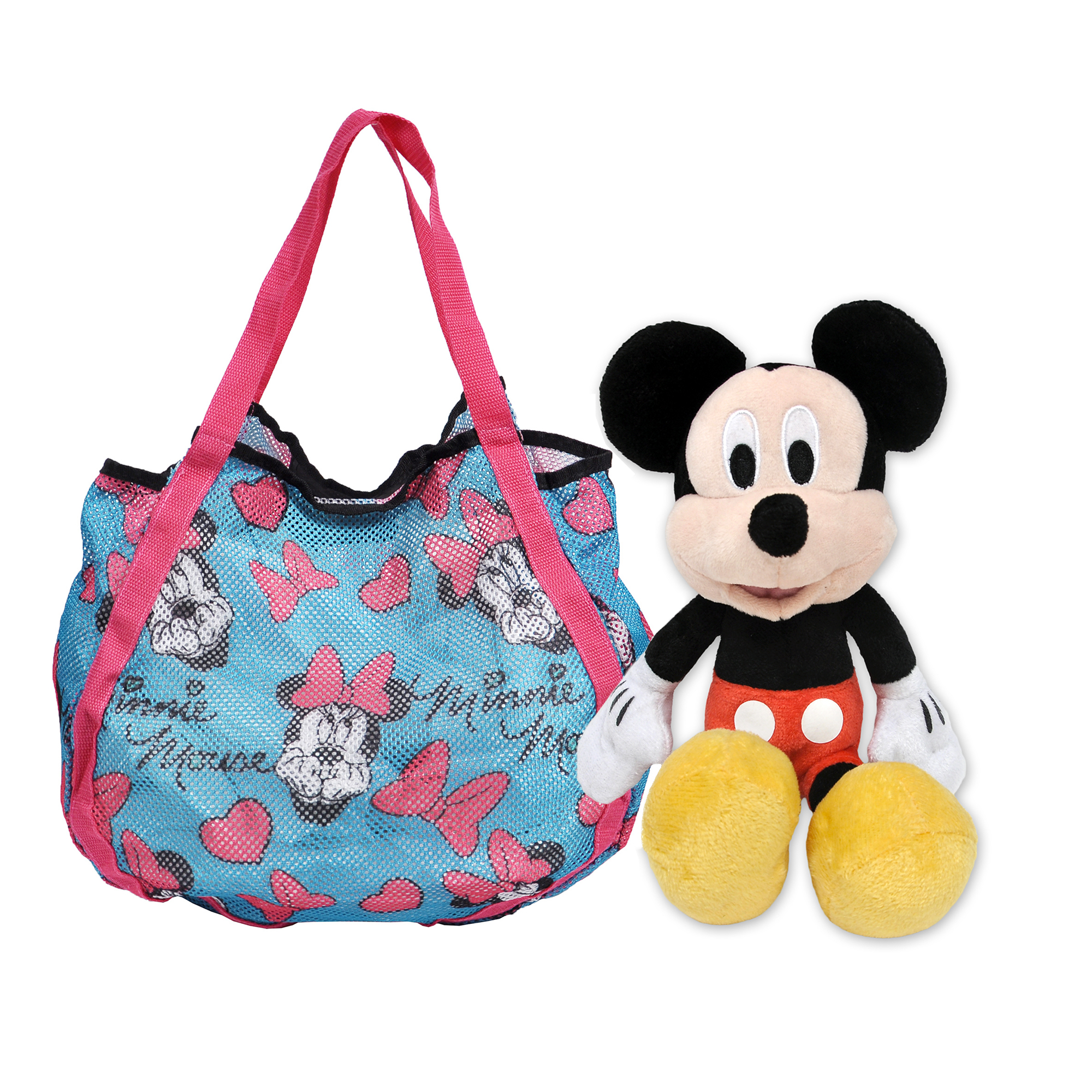 Minnie Mouse Shopping Tote Bag & Mickey Mouse Plush Doll 11""