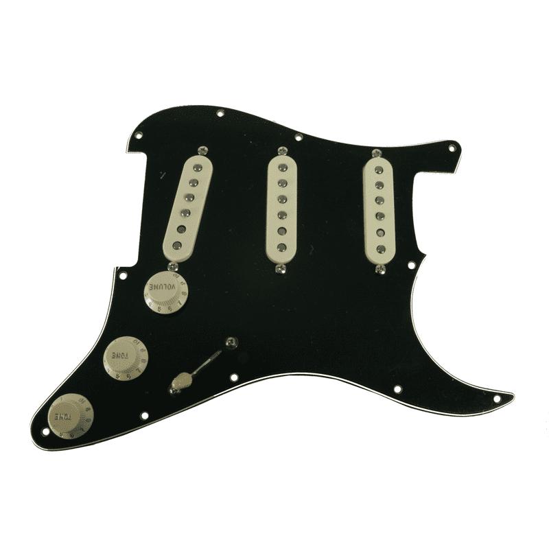 Fender Original '57/'62 Strat Loaded Pickguard Black / Aged White