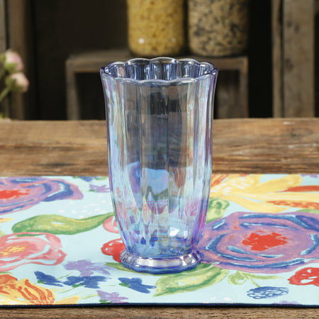 The Pioneer Woman Luster Glaze 15 Oz. Pearlized Blue Tumbler