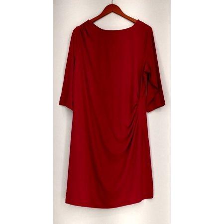 George Simonton Petite Size Dress 1XP Jersey Knit Grecian Pink