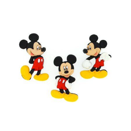 Jesse James Dress It Up Disney Mickey Mouse Embellishments, 3-Pack