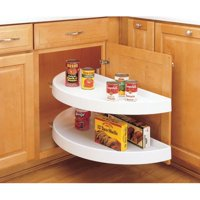 "Rev-A-Shelf 6842-39-570 RAS Polymer 39"" Diameter Half Moon Shaped Pivoting Two Shelf Lazy Susan Set Slides Not... by Rev-A-Shelf"