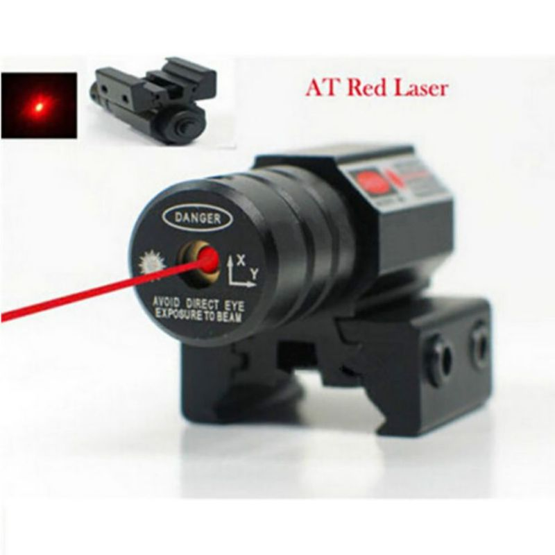Sawpy 50-100 Meters Range Precise Red Dot Laser Sight Pistol Adjustable,Red Dot Sight with Integrated Laser & Riser by