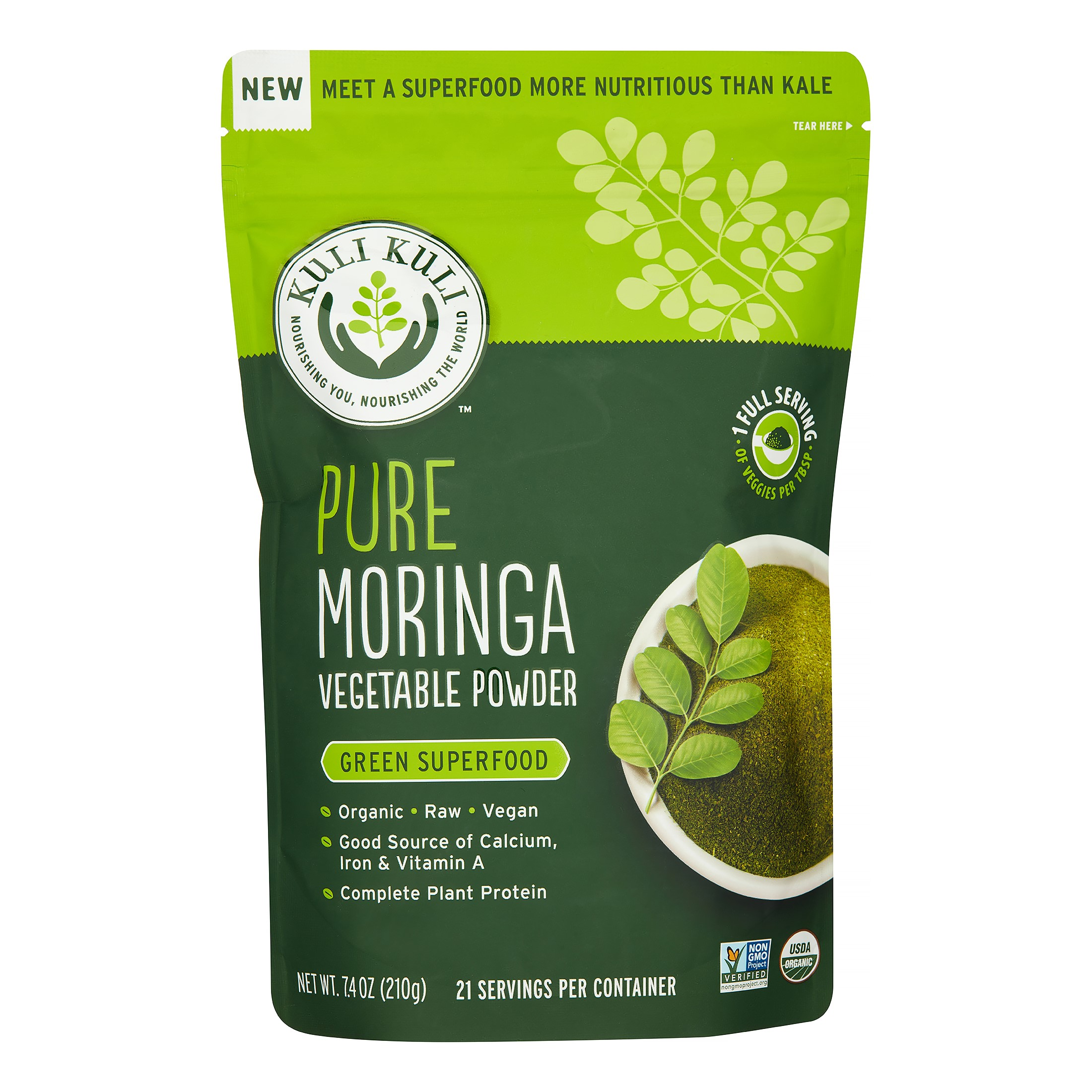 Kuli Kuli Pure Moringa Powder, 7.4 Oz