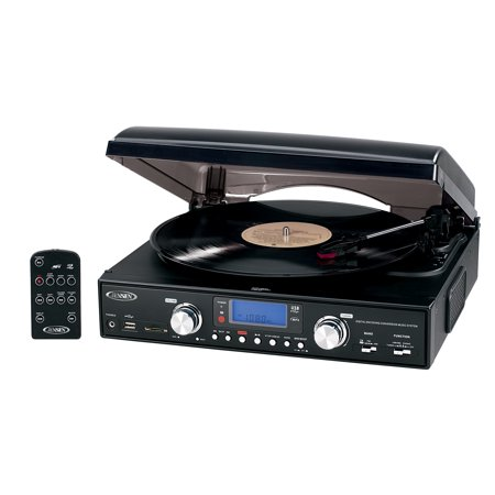 Jensen Ipod Docking System - Jensen JTA-460 3-Speed Stereo Turntable with MP3 Encoding System and AM/FM Stereo Radio