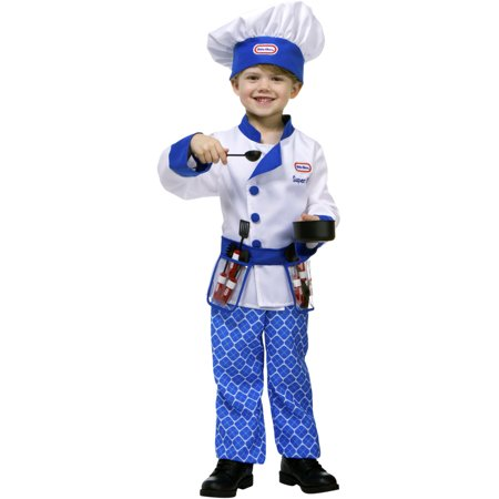 Little Tikes Blue Restaurant Kitchen Chef Toddler Costume - Chef And Baby Lobster Costume