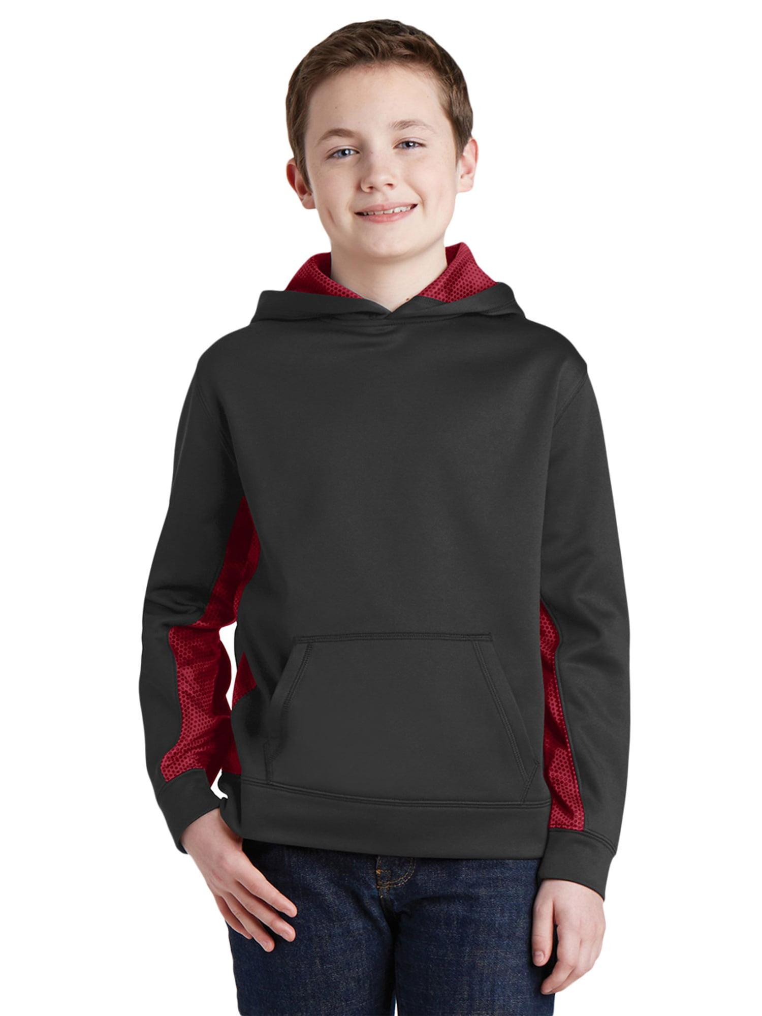 Sport-Tek Boy's CamoHex Hooded Pullover
