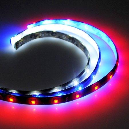 Zone Tech 3 Set Flexible Waterproof Light Strip   30Cm Led Car Flexible Waterproof Light Strip  Red  Blue  White