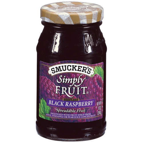 Smucker's: Simply Fruit Black Raspberry Seedless Spreadable Fruit, 10 Oz
