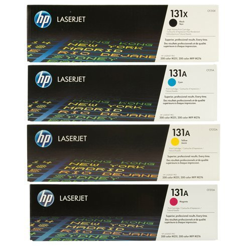 HP 131X/A High Yield Black and Standard Yield Color Toner Cartridge Set