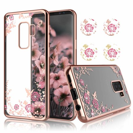 timeless design d565a bf997 Samsung S9 Plus Case, Galaxy S9 Plus Clear Case, Njjex Ultra Thin TPU Case  With Bling Diamond Cover For Samsung Galaxy S9 Plus Released on 2018 -Rose  ...