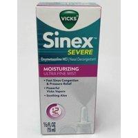 VICKS Sinex Ultra Fine Mist, Moisturizing, 0.5 Fluid Ounce (Pack of 2)