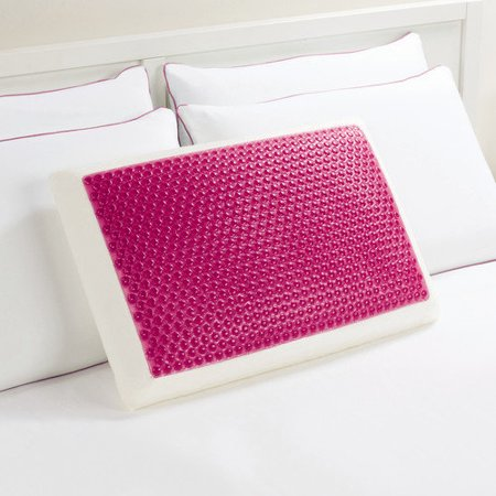 Comfort revolution frosted pink bubbles 246 0a hydraluxe for Comfort revolution hydraluxe gel memory foam bed pillow