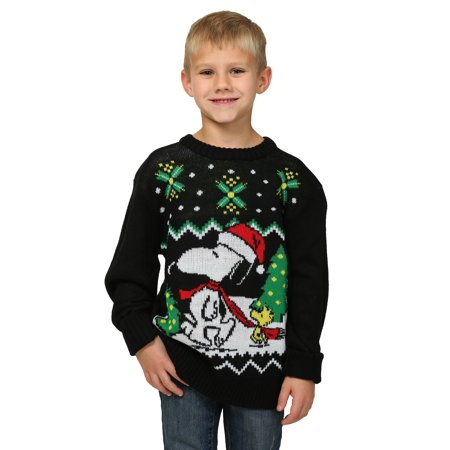 Boys Peanuts Snoopy & Woodstock Ugly Christmas Sweater for $<!---->