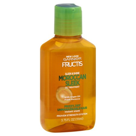 Garnier Fructis Sleek & Shine Moroccan Sleek Oil Treatment for Frizzy Hair, 3.75 fl.