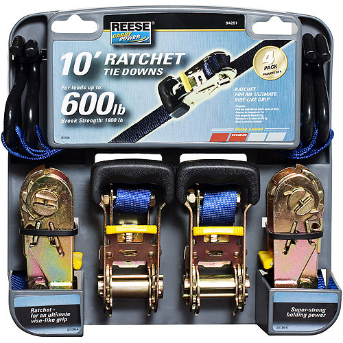 Reese Carry Power Heavy Duty Ratchet, 4-Pack
