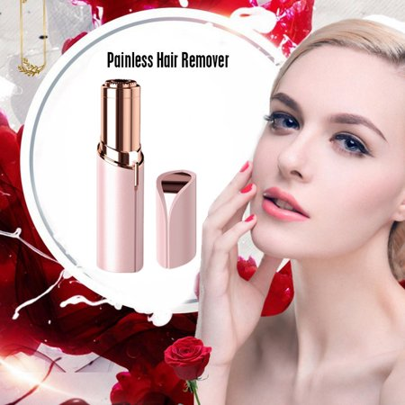 Touch Impeccable Women Painless Hair Remover Face Facial Hair Remover,rose (Facial Hair For Oval Face)