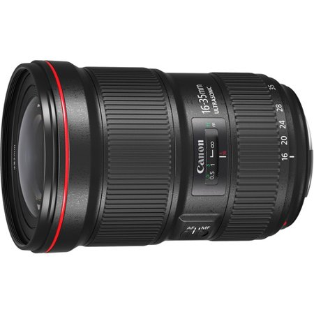 Canon - 16 mm to 35 mm - f/2.8 - Ultra Wide Angle Zoom Lens for Canon EF - Designed for Camera - 81.3 mm Attachment - 0.22x Magnification - 2.2x Optical Zoom - 5