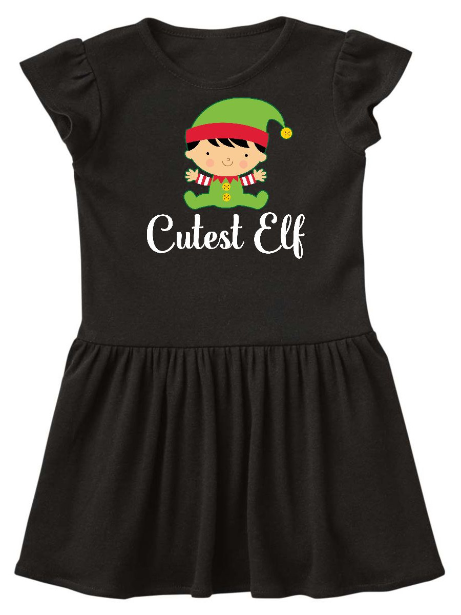 Cutest Elf Christmas Holiday Toddler Dress