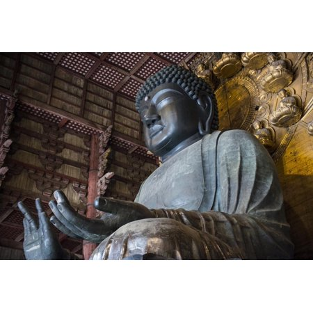 Todaiji Temple - Big Buddha Statue, Daibutsuden (Big Buddha Hall), Todaiji Temple Print Wall Art By Michael Runkel