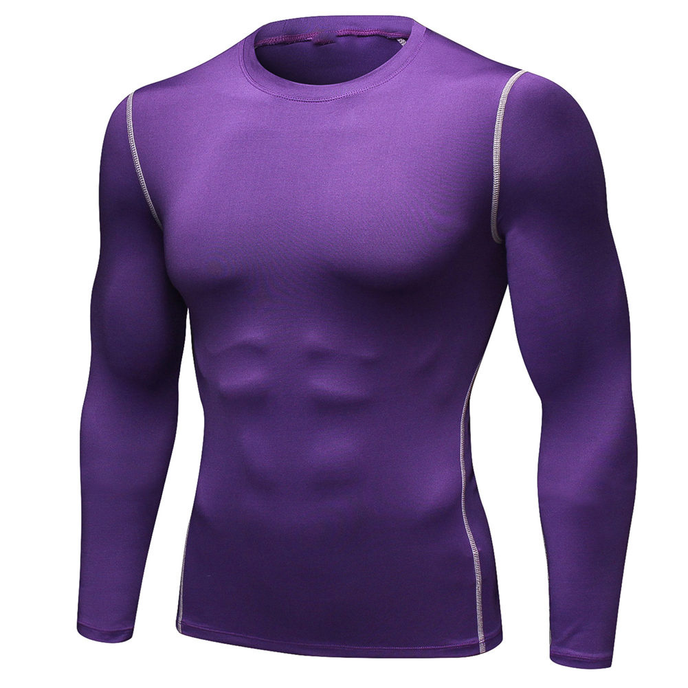 Mens Compression Armour Base Layer Top Long Sleeve Thermal Gym Sports Tops Shirt