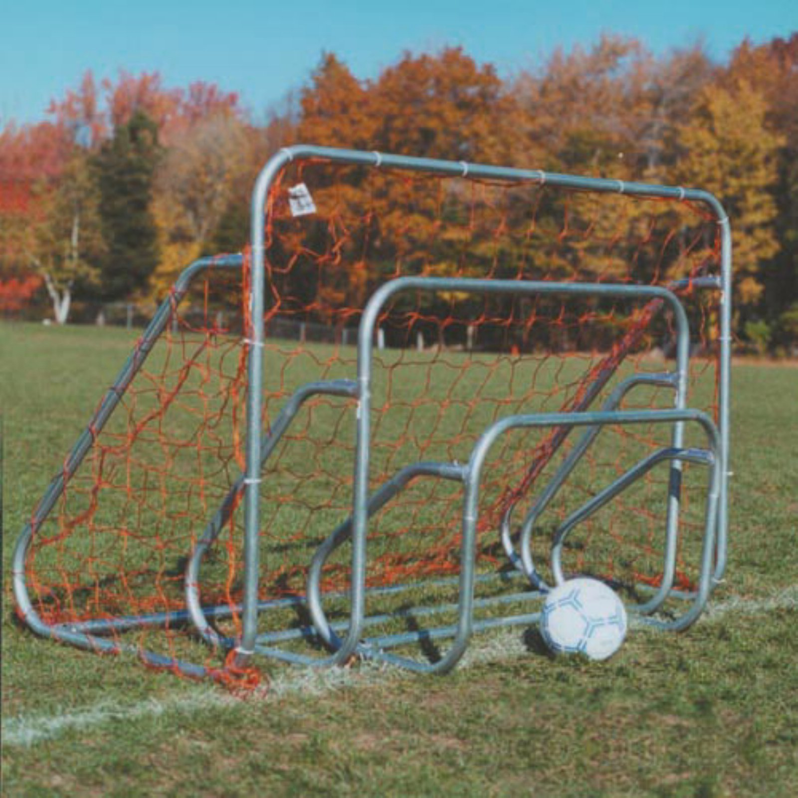 Goal Sporting Small-Sided Steel Soccer Goal with Groundbar