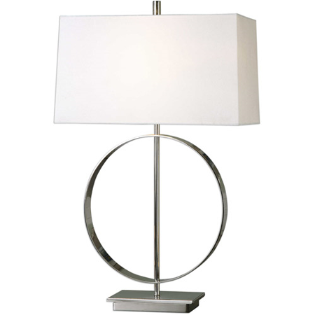 Table Lamps 1 Light With Polished Nickel Finish Steel Material 29 inch 100 (Nigel Steel)