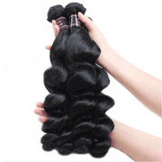 "Ishow Brazilian Loose Wave Virgin Hair 5 Bundle Deals 7A Human Hair Extensions, 18""20""22""24""26"
