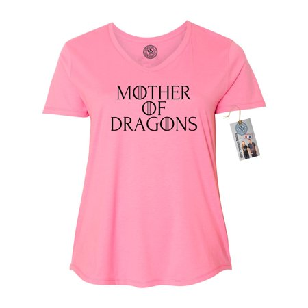game of thrones mother of dragons plus size womens vneck shirt top