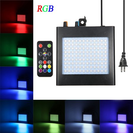 Self Contained Strobe - SOLMORE brand box box with a manual RF remote control high sensitivity of 108 strobe RGB light KTV flash Flashlight flashing stage lights self-control LED mini flash power cord exposed line l
