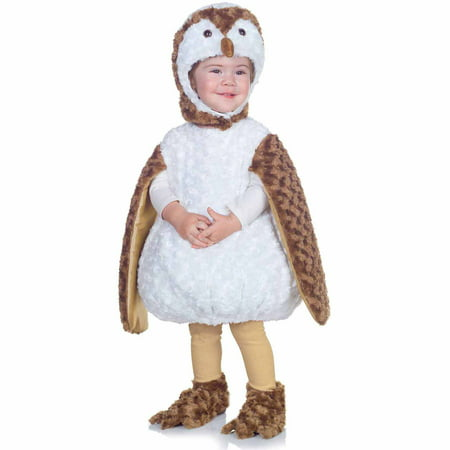 White Barn Owl Toddler Halloween Costume - White Dress For Halloween Costume
