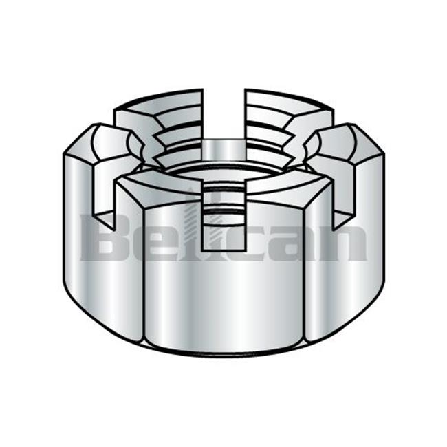 Shorpioen 43NHS 0.43-14 Slotted Hex Nut - Zinc - Box of 500