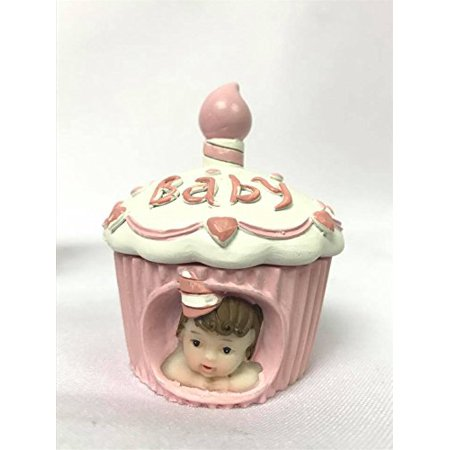 Baby Cake Cupcake Girl Cake Topper Favor Souvenir for 1st Birthday-Baby Shower 10 Ct