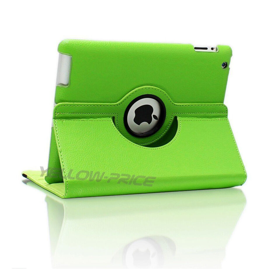 LivEditor 360-degree Swivel Leather Case Films for Apple® iPad® 2 / The new iPad® - Green - image 3 de 5