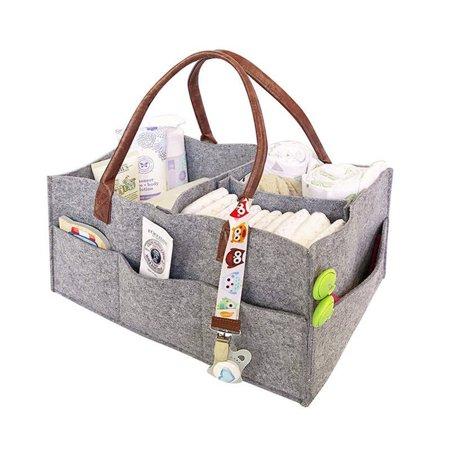 Felt Baby Diaper Wipes Bag Caddy Nursery Storage Bin Nappy Organizer