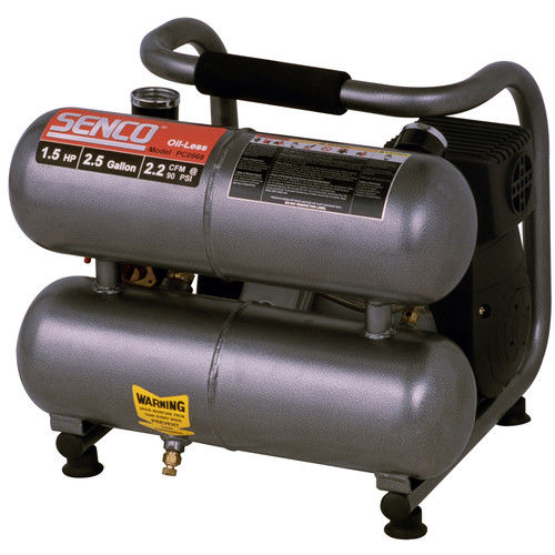 Senco PC0968 1.5 HP 2.5 Gallon Oil-Free Hand-Carry Air Co...