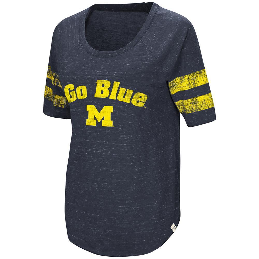 Womens Michigan Wolverines Bean Babbitt Raglan Tee Shirt - S