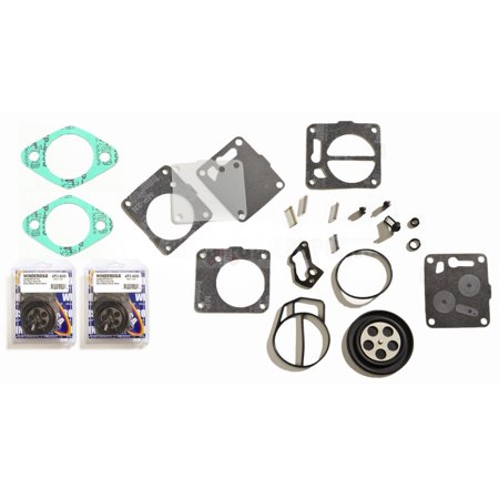 Dual Twin Carburetor Rebuild Kit With Base Gaskets Sea Doo 787 GSX GTX XP  SPX