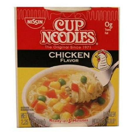 Nissin Cup Noodles (Nissin Cup O'Noodles Ramen Noodle Soup, Chicken Flavor, 2.25-Ounce (Pack of 12))