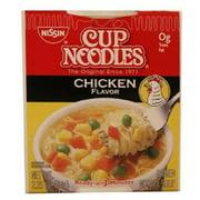Nissin Cup O'Noodles Ramen Noodle Soup, Chicken Flavor, 2.25-Ounce (Pack of 12)