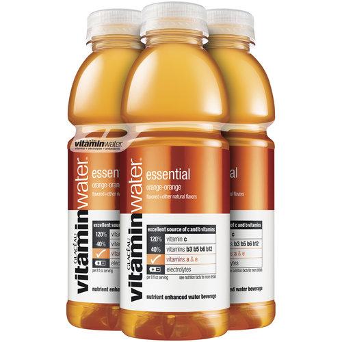 Glaceau Essential Orange-Orange Vitaminwater, 16 oz, 4pk